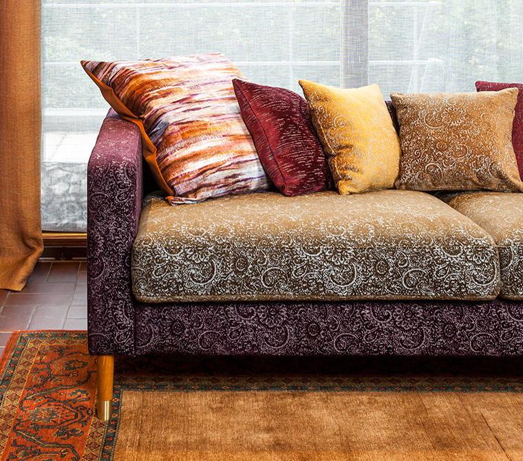 Wizzy Chenille Upholstery Fabric With Vintage Design