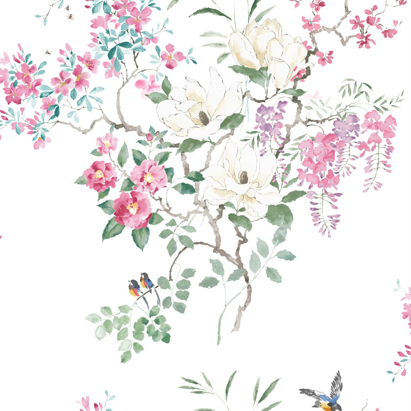 Magnolia & Blossom Panel A + B
